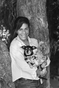 portraits of Wendy Nan Rees and dogs